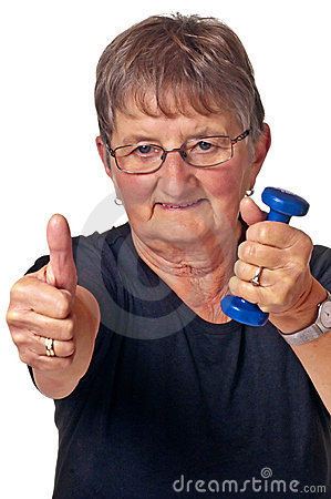 Pensioner does bodybuilding