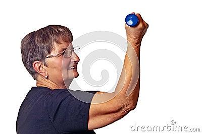Pensioner does bodybuilding