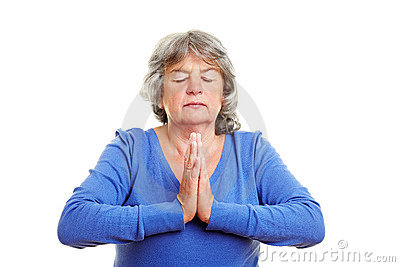 Pensioner meditating