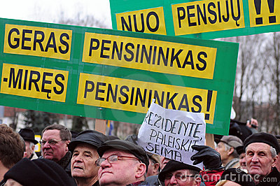Pensioners protest Editorial Photo