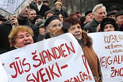 Pensioners protest Editorial Stock Image