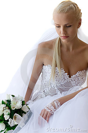 Free Pensive Bride Royalty Free Stock Image - 10055096