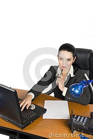 Pensive business women
