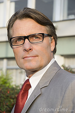 Free Pensive Businessman Wearing Spectacles. Royalty Free Stock Photo - 9874085
