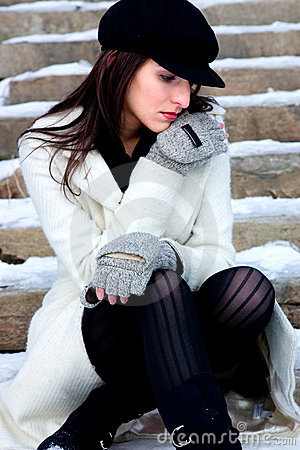 Pensive and cold