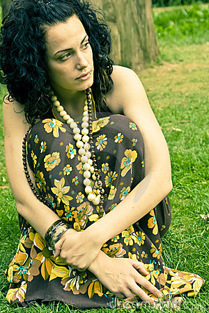 Free Pensive Curly Woman Royalty Free Stock Image - 5825006