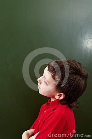 Pensive kid