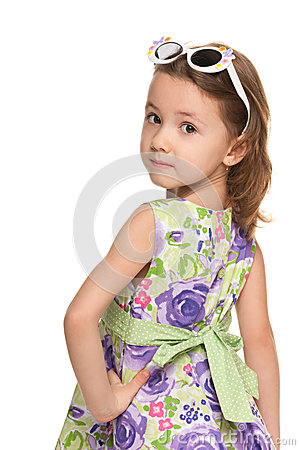 Free Pensive Little Girl Looks Back Royalty Free Stock Image - 29219506