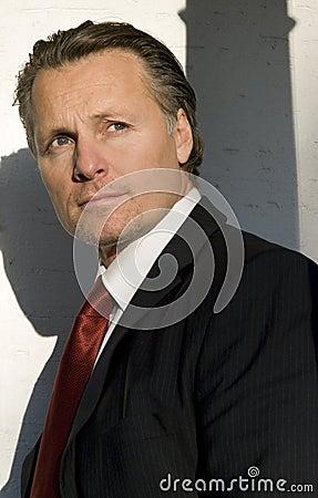 Pensive looking businessman.