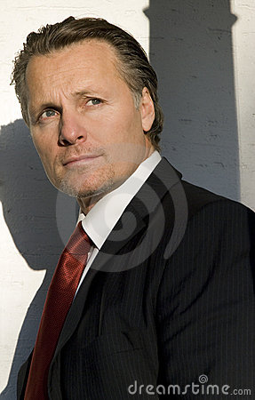 Free Pensive Looking Businessman. Stock Image - 7641221