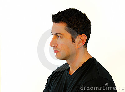Pensive Man Profile