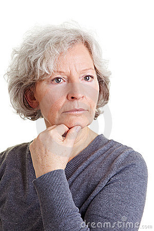 Free Pensive Old Woman Royalty Free Stock Image - 18859876
