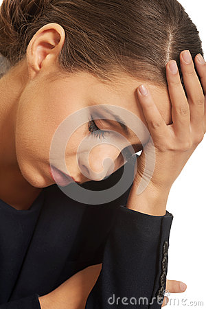 Free Pensive Woman Having A Trouble Royalty Free Stock Images - 48696559
