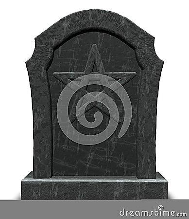 Pentacle on gravestone