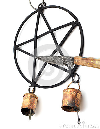 Pentacle Wind Chime and Athame