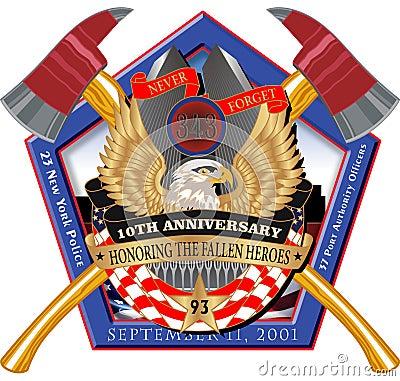 Pentagon 911 Crossed Axe Decal Editorial Stock Photo