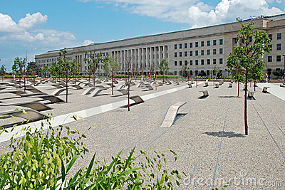 Pentagon memorial in Washington DC Editorial Photography