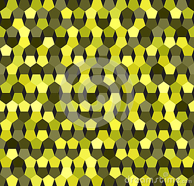 Pentagon pattern. Vector seamless background Vector Illustration
