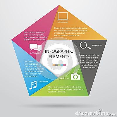 Pentagonal Infographic