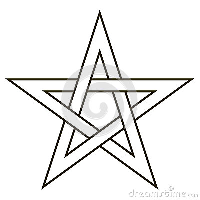 Pentagram Five End Star With Weave Sides Sector Symbol Dark Forces