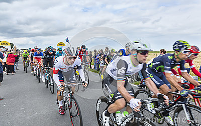 The Peolton at The Start of Tour de France 2016 Editorial Stock Photo