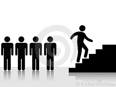 People Achieve Climb Up Stairs