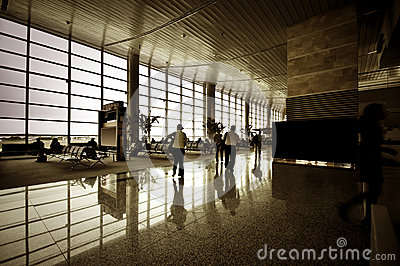 People at airport interior