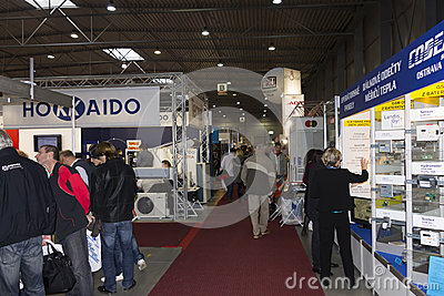 People on AquaTherm 2012 in Prague Editorial Photography