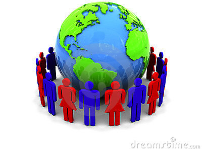 People around earth