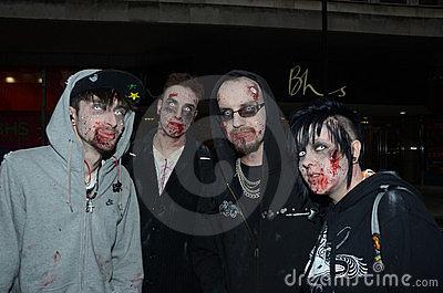 People Attending The Annual Zombie Walk Editorial Photography