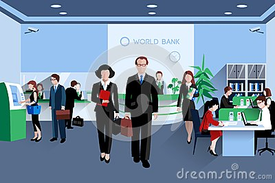 People In Bank