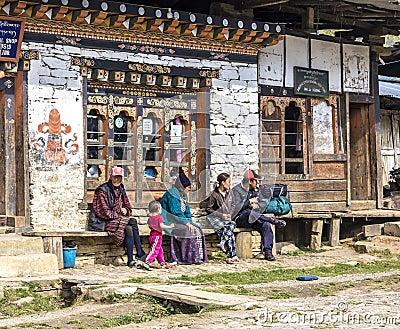 People in Bhutan Editorial Image