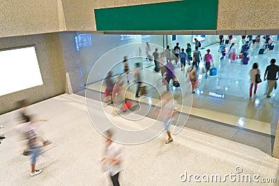 People blur motion