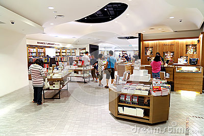 People at bookstore Editorial Photography