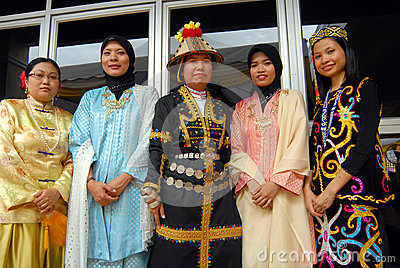 People of Borneo Editorial Stock Image