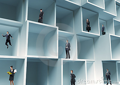 People in a box