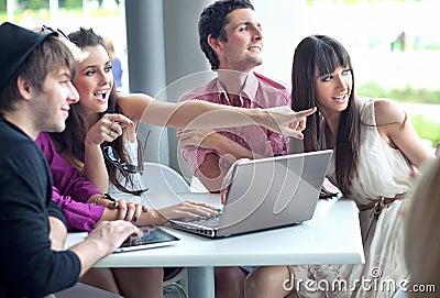 People browsing internet