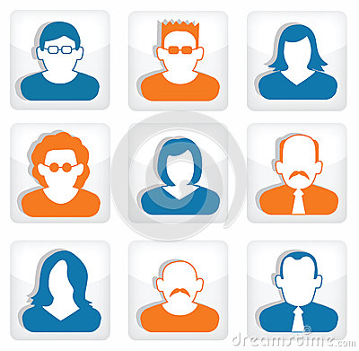 People buttons (social icons)