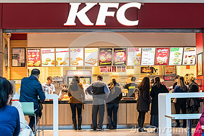 People Buying Kentucky Fried Chicken Editorial Stock Photo