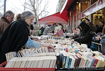 People buying old books Editorial Image