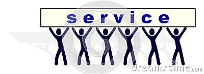 People carrying service burden
