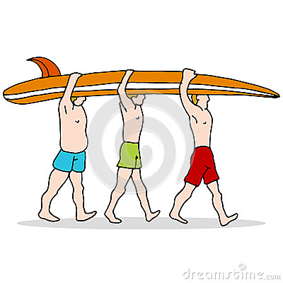 People Carrying Surfboard