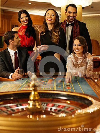 People in a casino