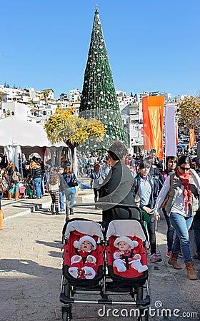 People celebrate Christmas Editorial Image