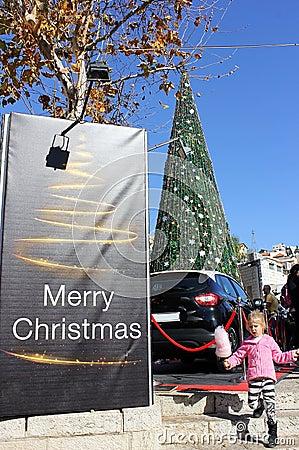 People celebrate Christmas Editorial Stock Photo