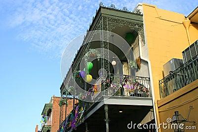 People celebrated crazily in Mardi Gras parade. Editorial Photo