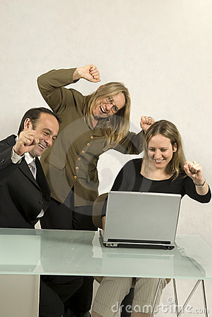 People Celebrating in Meeting