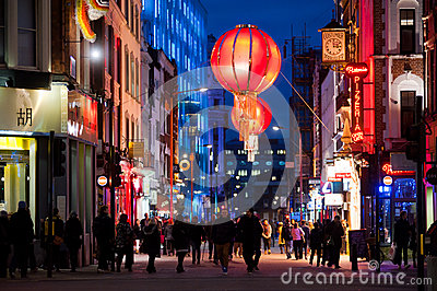 People in Chinatown, London Editorial Photography