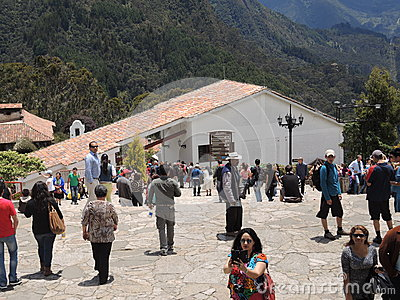 People in the church of the mountain of Monserrate. Editorial Photography