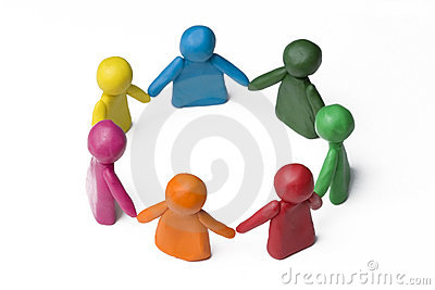 People in the circle - team work
